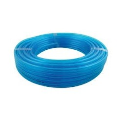 Tuyau droit en polyuréthane bleu
