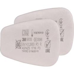 Filtre 3M P3 poussière toxique - lot de 2